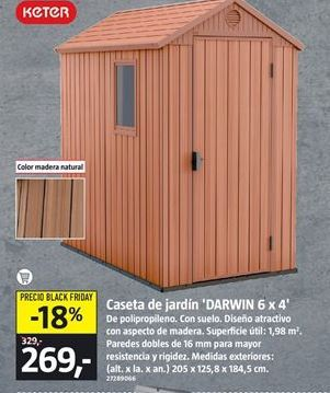 Oferta de Caseta de jardín por 269€