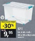 Oferta de Caja de plástico con ruedas por 9,95€