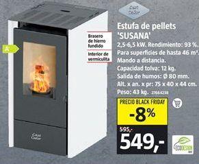 Oferta de Estufa de pellet por 549€