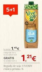 Oferta de Bebida de soja ViveSoy por 1,45€