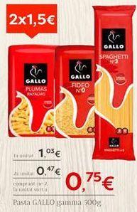 Oferta de Pasta Gallo por 1,03€