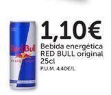 Oferta de Bebida energética RED BULL original  por 1,1€