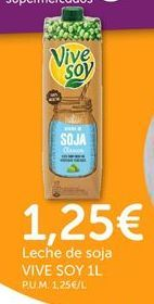 Oferta de Leche de soja ViveSoy por 1,25€