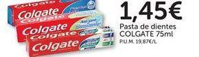 Oferta de Pasta de dientes COLGATE por 1,45€