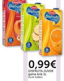 Oferta de DISFRUTA JUVER gama brik por 0,99€