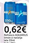 Oferta de Refresco AQUARIUS limón o naranja por 0,62€