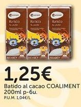Oferta de Batido de chocolate por 1,25€