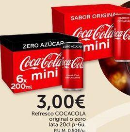 Oferta de Refrescos Coca-Cola por 3€