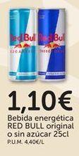 Oferta de Bebida energética Red Bull por 1,1€