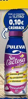 Oferta de Leche sin lactosa Puleva por