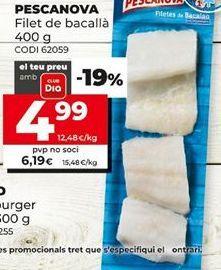 Oferta de Filetes de bacalao Pescanova por 4,99€