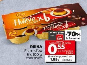 Oferta de Flan de huevo reina por 0,85€