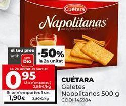 Oferta de Galletas napolitanas Cuétara por 1,99€