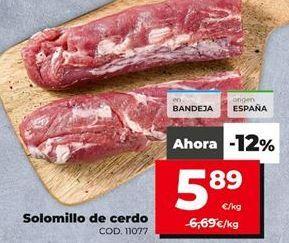 Oferta de Solomillo de cerdo por 5,89€