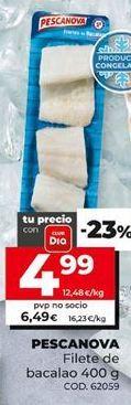 Oferta de Filetes de bacalao Pescanova por 6,99€