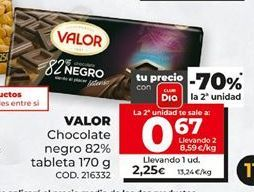 Oferta de Chocolate negro Valor por 2,25€