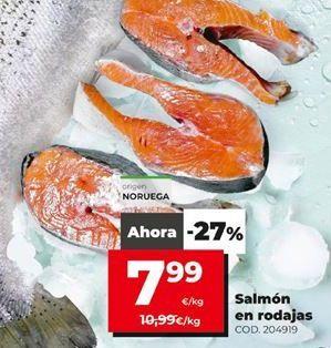 Oferta de Rodajas de salmón por 7,99€