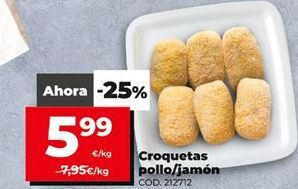 Oferta de Croquetas de jamón por 5,99€