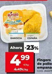 Oferta de Fingers de pollo elpozo por 4,99€