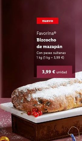 Oferta de Bizcocho Favorina por 3,99€
