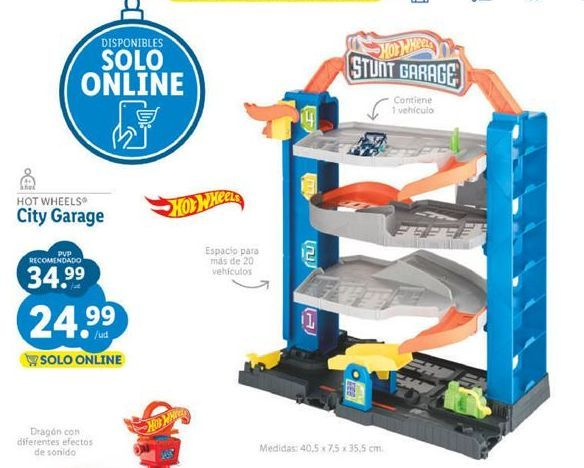 Oferta de Juguetes Hot Wheels por 24,99€