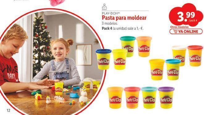 Oferta de Pasta para modelar Play-Doh por 3,99€