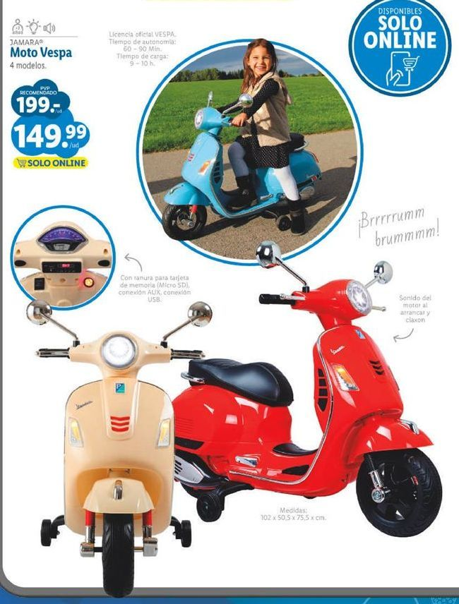 Oferta de Moto de juguete por 149,99€