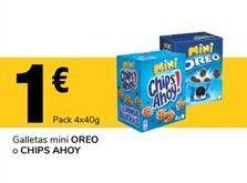 Oferta de Galletas mini OREO o CHIPS AHOY por 1€