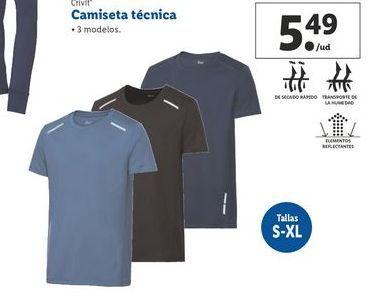 Oferta de Camiseta Crivit por 5,49€