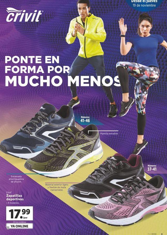 Oferta de Zapatillas Crivit por 17,99€