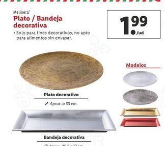Oferta de Plato/bandeja decorativa melinera por 1,99€