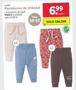Oferta de Pantalones de chadal  Lupilu por 6,99€
