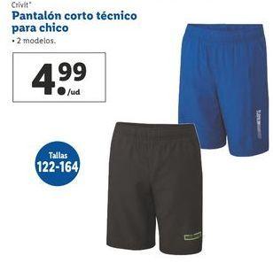 Oferta de Pantalón corto técnico para chico Crivit por 4,99€