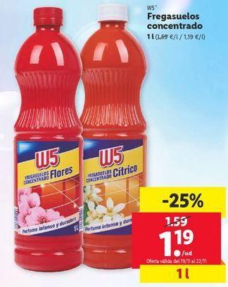 Oferta de Fregasuelos W5 por 1,19€