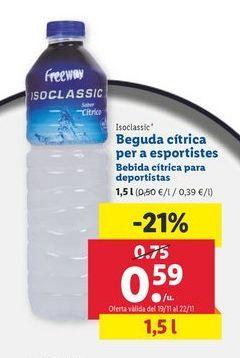 Oferta de Bebida cítrica para deportistas Freeway por 0,59€