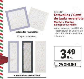 Oferta de Mantel/camino de mesa reversible Meradiso por 3,49€