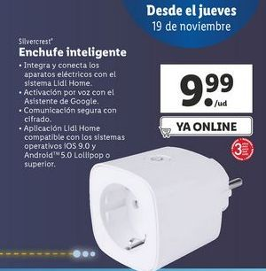 Oferta de Enchufe inteligente  SilverCrest por 9,99€