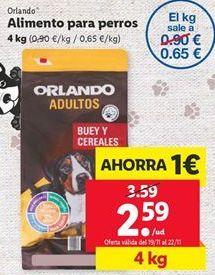 Oferta de Comida para perros Orlando por 2,59€