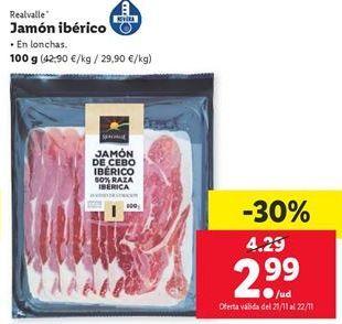 Oferta de Jamón ibérico Realvalle por 2,99€
