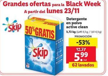 Oferta de Detergente en polvo Skip por 5,99€