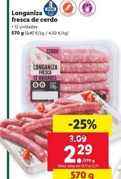 Oferta de Longaniza por 2,29€