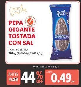 Oferta de Pipas por 0,49€