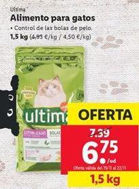 Oferta de Comida para gatos Última por 6,75€