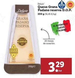 Oferta de Queso parmesano Deluxe por 3,29€
