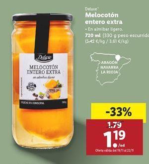 Oferta de Melocotones Deluxe por 1,19€