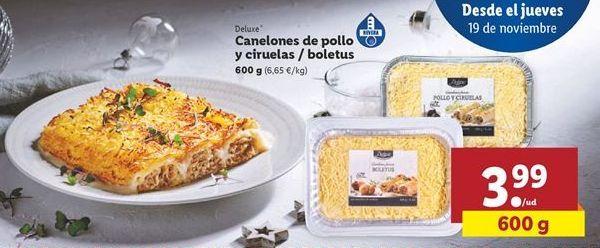 Oferta de Canelones Deluxe por 3,99€