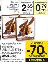 Oferta de Los cereales de chocolate SPECIAL K y choco-avellana KRAVE  por 2,65€