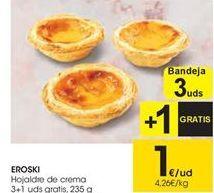 Oferta de Hojaldre de crema EROSKI  por 1€