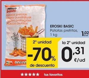 Oferta de Patatas prefritas EROSKI BASIC por 1,02€