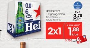 Oferta de Cerveza 0,0 HEINEKEN por 3,75€